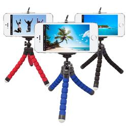 Imagem de Mini Tripé Flexível para Smartphone, GoPro e Câmera - Diversas Cores