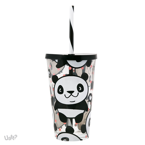 Imagem de Copo Canudo de Vidro - Panda