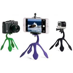 Imagem de Suporte Tripé Flexível para Smartphone, GoPro e Câmera - Diversas Cores