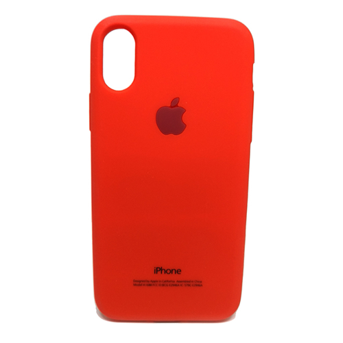 Imagem de Capa para iPhone X e XS de Silicone - Símbolo Apple
