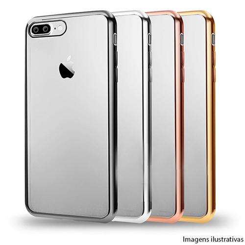 Imagem de Capa para iPhone 6 e 6S de TPU - Transparente com Borda Cromada