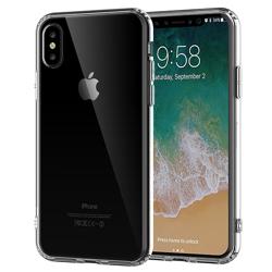 Imagem de Capa para iPhone X e XS de TPU Casca de Ovo - Transparente