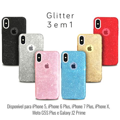 Imagem de Capa para iPhone X e XS de Plástico com Glitter