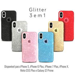Imagem de Capa para Moto G5S Plus de Plástico com Glitter