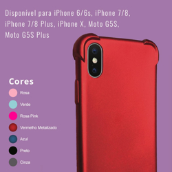 Imagem de Capa para iPhone 7 Plus e 8 Plus de TPU Anti Shock - Colorida