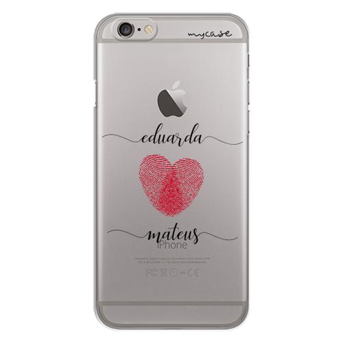 Imagem de Capa para celular - Coração com Digitais | Com Nomes Manuscritos