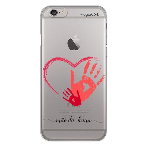 Imagem de Capa para celular - Marca de Mão Mãe e Filho | Com nome