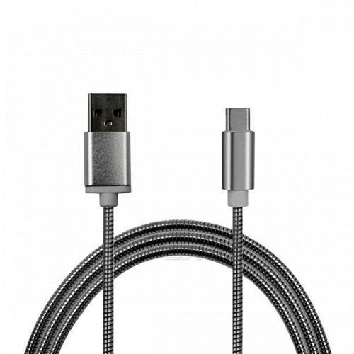 Imagem de Cabo de dados USB 2.8A TIPO C de 2 metros - Aço | Hrebos