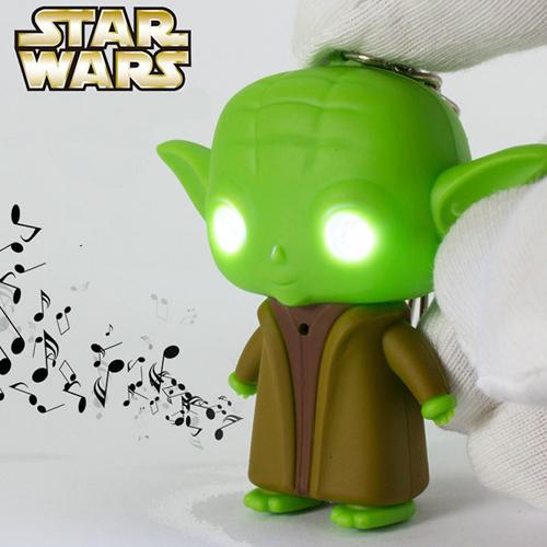 Imagem de Chaveiro Star Wars com LED e Som | Yoda