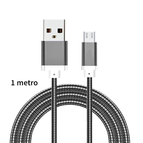 Imagem de Cabo para iPhone e iPad Lightning de 1 metro - Aço | Hrebos