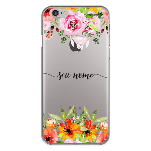 Imagem de Capa para celular - Flores Coloridas | Com Nome Manuscrito