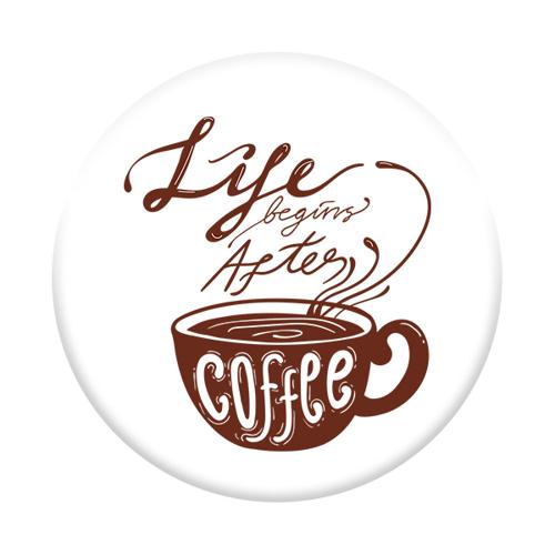 Imagem de Pop Socket - Life Begins After Coffee