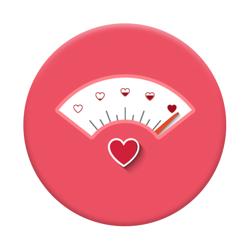 Imagem de Pop Socket - Termômetro do Amor