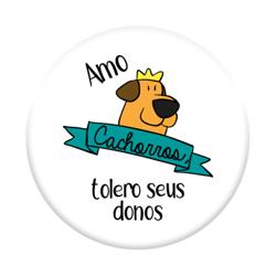 Imagem de Pop Socket - Amo Cachorros, Tolero Seus Donos.