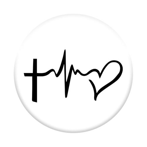 Imagem de Pop Socket - Cruz e Coração