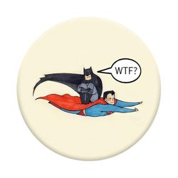 Imagem de Pop Socket - Super Man e Batman WTF