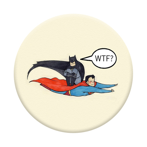 Imagem de Pop Socket - Super Man e Batman WTF