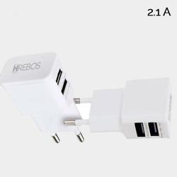 Imagem de Carregador Dual USB 2.1A. | Branco