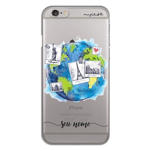 Imagem de Capa para celular - Viagem pelo mundo | Com nome manuscrito