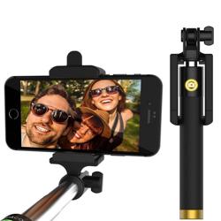Imagem de Bastão para Selfie Retrátil com Botão Embutido via Cabo P2