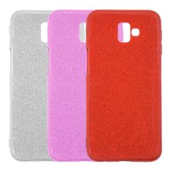 Imagem de Capa para Galaxy J6 Plus de Plástico com Glitter