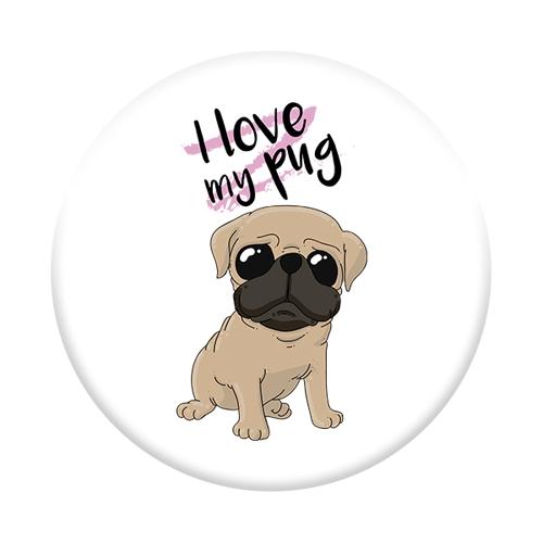 Imagem de Pop Socket - Love my pug