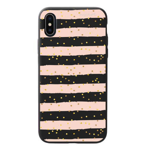 Imagem de Capa para celular Black Edition - Listras Rosa