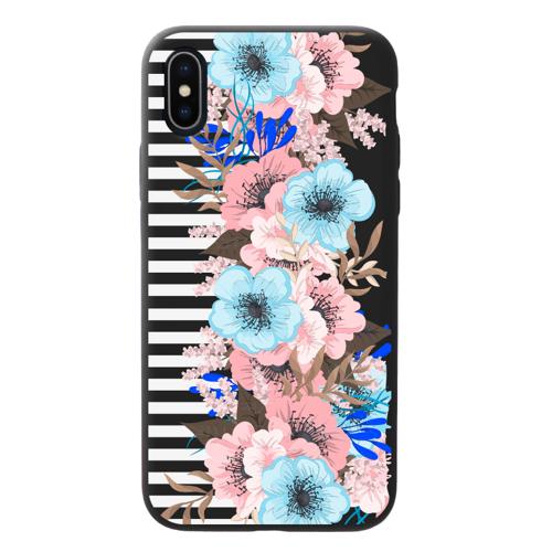 Imagem de Capa para celular Black Edition - Flores com Listras
