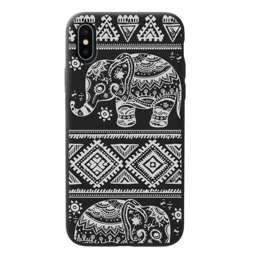 Imagem de Capa para celular Black Edition - Elefante mosaico