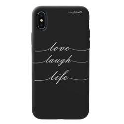 Imagem de Capa para celular Black Edition - Love, Laugh, Life