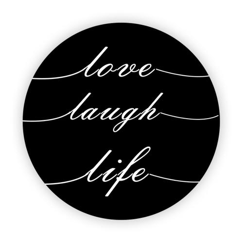 Imagem de Pop Socket - Love, Laugh, Life | Preto