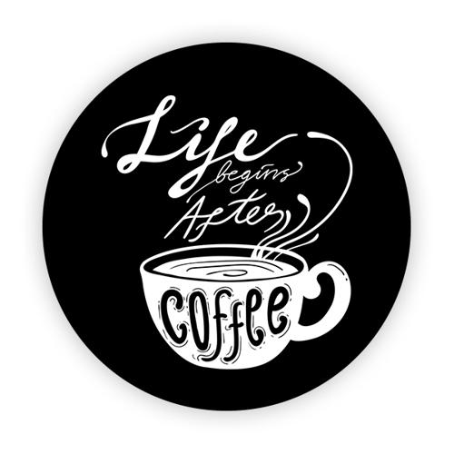 Imagem de Pop Socket - Life Begins After Coffee | Preto