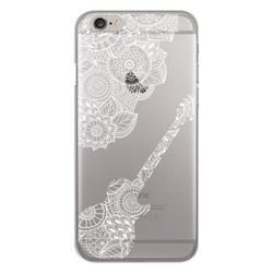 Imagem de Capa para Celular - Violão mosaico para iPhone 7 e 8 | Branco