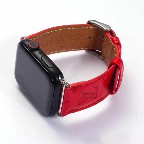 Imagem de Pulseira Louis Vuitton Vermelha para Apple Watch