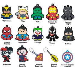 Imagem de Chaveiro Emborrachado - Heróis | Personagens