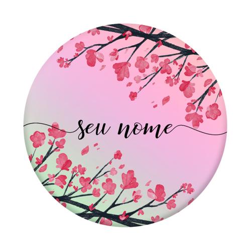 Imagem de Pop Socket Holográfico - Flor de Cerejeira | Com Nome Manuscrito