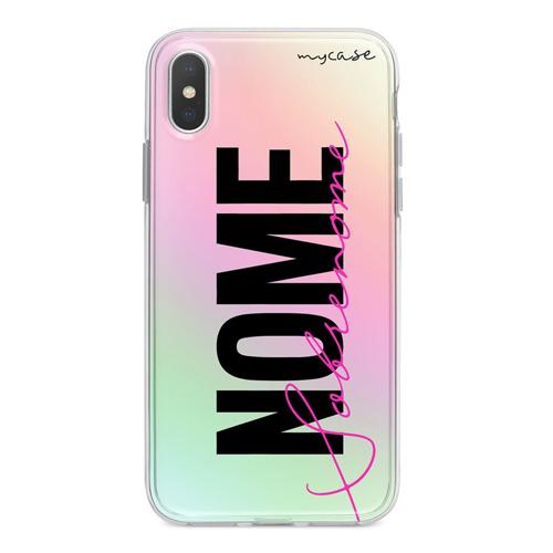 Imagem de Capa para celular Holográfica - Nome e Sobrenome Style