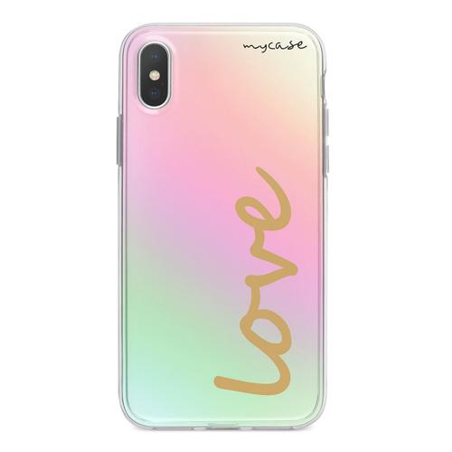 Imagem de Capa para celular Holográfica - Love Gold