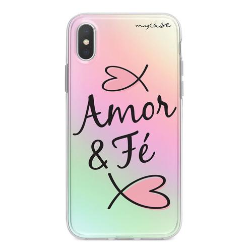 Imagem de Capa para Celular Holográfica - Amor e fé.