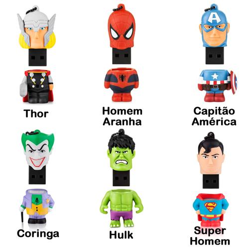 Imagem de Pen Drive 8GB - Super Heróis | Personagens