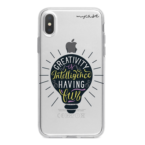 Imagem de Capa para celular - Creativity is Intelligence Having Fun
