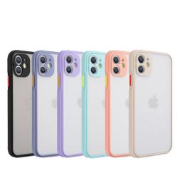 Imagem de Capa para iPhone XR de TPU Fosco com Borda Colorida