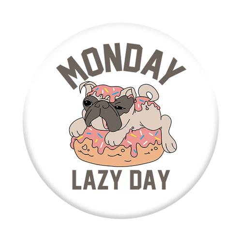 Imagem de Pop Socket - Pug | Monday Lazy Day