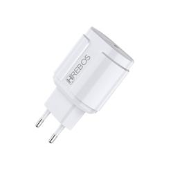 Imagem de Carregador Turbo USB - Hrebos| Branco