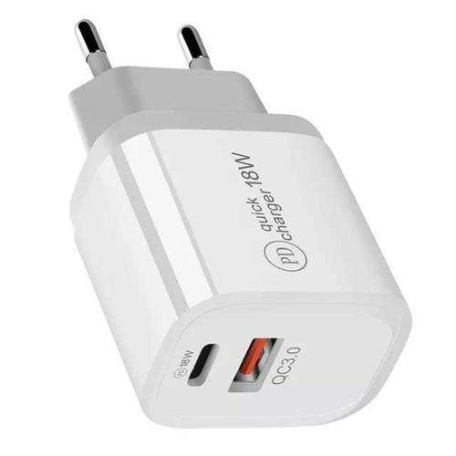 Imagem de Carregador USB-C e USB de 18W - Branco