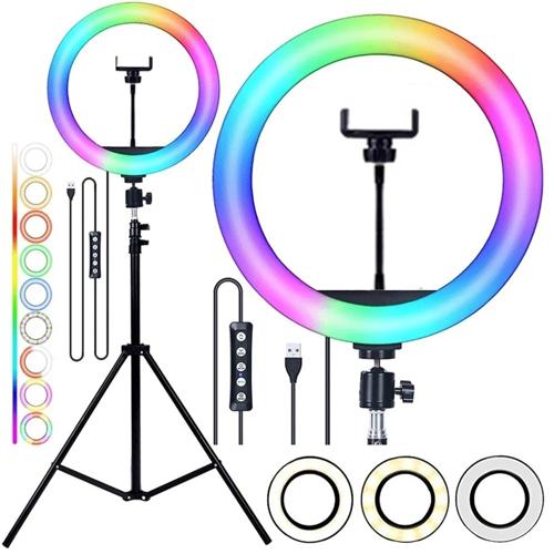 """Imagem de Ring Light 10"""" LED - RGB Colorido"""
