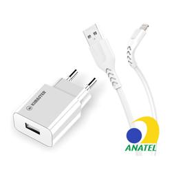 Imagem de Carregador de Parede e Cabo de Dados USB para iPhone Lightning - 3.1A | Kimaster
