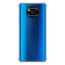 Imagem de Capa para Xiaomi Poco X3 de TPU Anti Shock - Transparente