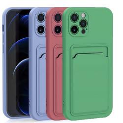 Imagem de Capa para iPhone XR de Silicone com Porta Cartão