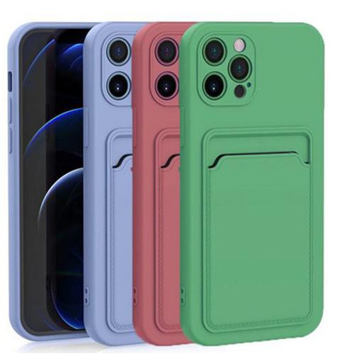 Imagem de Capa para iPhone 12 de Silicone com Porta Cartão